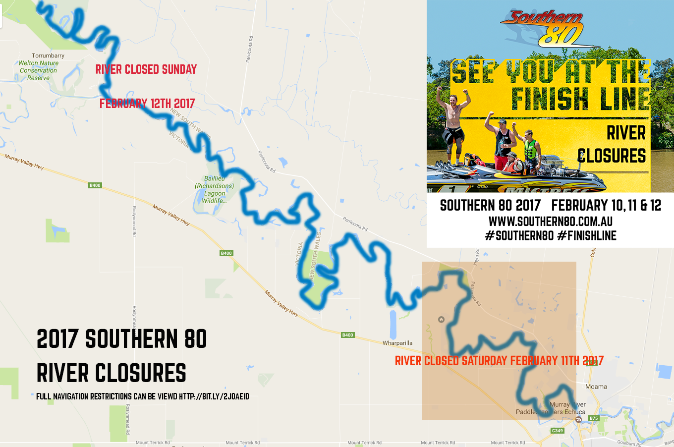 2017 River Closures Southern 80 Southern 80 Moama Water Sports Club